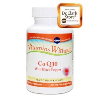 Co-enzyme Q10 avec poivre noir : 100 gélules végétales - 100mg