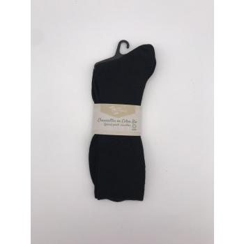 Chaussettes en coton bio, coloris noir, taille 45/46
