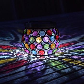 """Lanterne de table solaire """"Pierres Précieuses"""""""