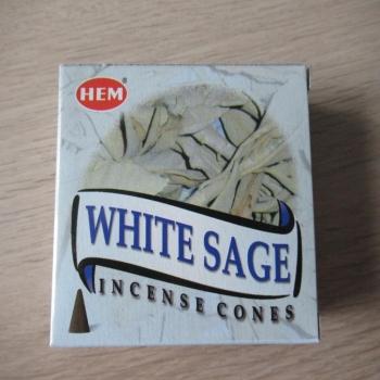 """Cônes encens """"sauge blanche"""""""