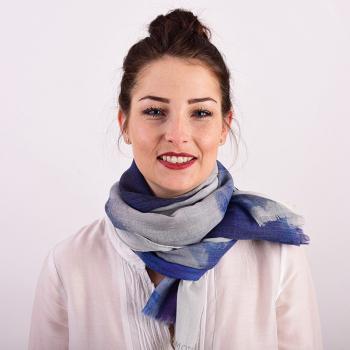 Etole soie laine bleue Abstract aux fleurs de Bach apaisantes BIO