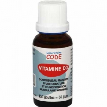 Vitanime D3 naturelle - 20ml - Laboratoire Code