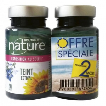 Pack de 2 Teint estival - 2X60 gélules - Boutique nature