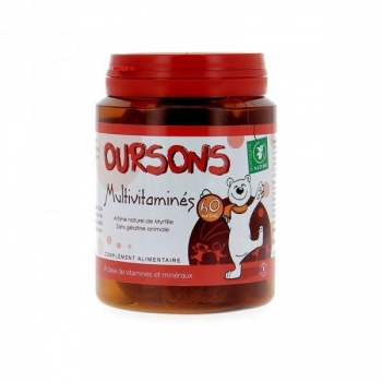 Oursons multivitaminés - 60 gommes - Boutique nature
