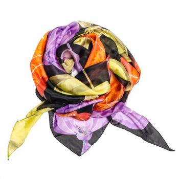 Triangle Soie Lanterne black aux fleurs de Bach apaisantes BIO