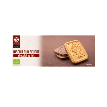 Biscuits pur beurre choco lait Bio - 190g - France