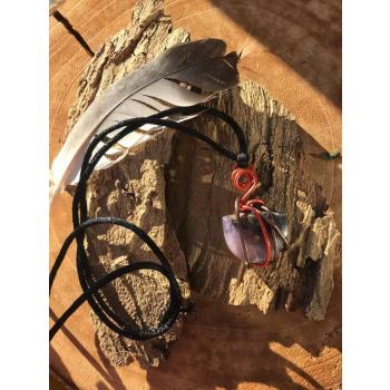 Pendentif Agate mousse Violette Reconnexion