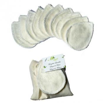 Lingettes Yeux - Lot de 10 - ivoire - Collection Bambou