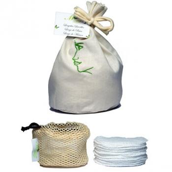 Disques Visage - Kit de 12 - blanc - Collection Bambou