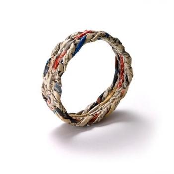 Bracelet en papier journal recyclé - Taille L