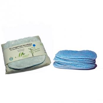 Lingettes Familiales - Lot de 10 - bleu - Bambou