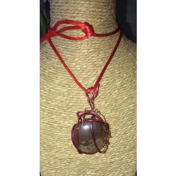 Vénus pendentif Agate Mousse Rouge Indonesie