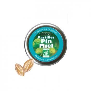 AROMANDISE - Pastilles bio Pin et Miel 45g - Fraîcheur et respiration