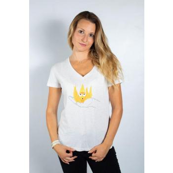 KY-KAS T-shirt femme coton BIO col V