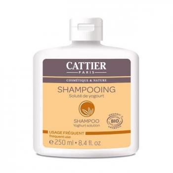 CATTIER - Shampoing Usage Fréquent bio Soluté de Yogourt 250ml