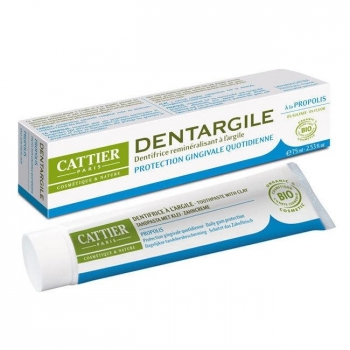 CATTIER - Dentargile Propolis - Dentifrice bio protection gencives 75ml