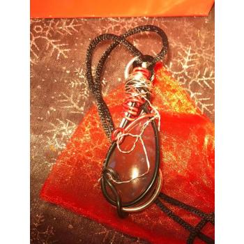 Love Potion Pendentif Agate Mousse Rouge