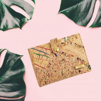 portefeuille en liège coloré