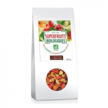 COMPTOIRS ET COMPAGNIES - Mix Superfruits bio Goji, cranberries, mulberries 400g