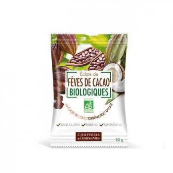 COMPTOIRS ET COMPAGNIES - Eclats de fèves de cacao bio au sucre de coco 30g