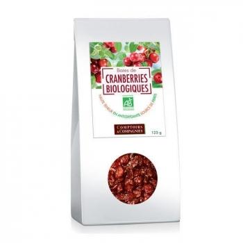 COMPTOIRS ET COMPAGNIES - Baies de cranberries bio séchées - Canneberges 125g