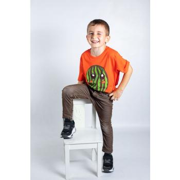 KY-KAS t-shirt enfants coton bio col rond (pasteque)