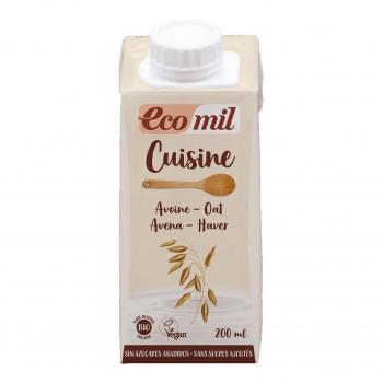 Crème Cuisine Avoine Nature 200ml bio - Ecomil