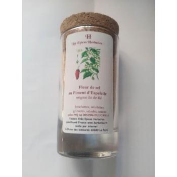 Fleur de sel au piment d'Espelette 90g Pot en verre