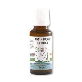 Anti tiques et puces - Plantes et Véto - 20 ml