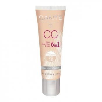 SANTE NATURKOSMETIK - CC Crème bio correctrice 6 en 1 Light n°10 - Tube 30ml