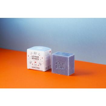 Savon saponifié à froid certifié BIO - Le Pavé Détente par ATELIER POPULAIRE - 90g