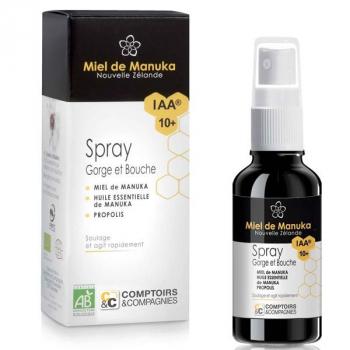 Spray Bio gorge au miel de manuka IAA10+ - 25 ML - Comptoirs et compagnies