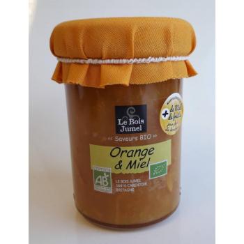 Confiture Bio - Orange et  Miel Bio - 250 g -Le Bois Jumel