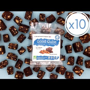 """x10 Brownie aux chocolat et amandes """"Le Colosse"""" BIO - 10x 35g"""