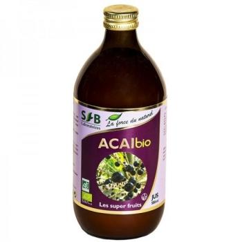 Pur Jus d'Acaï Bio - 500 ml - Laboratoires SFB