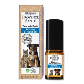 Elixir Fleurs de Bach Bio - animaux stressés - Spray 10 ml - Provence Santé