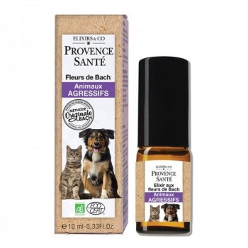 Elixir Fleurs de Bach Bio - animaux agressifs - Spray 10 ml - Provence Santé