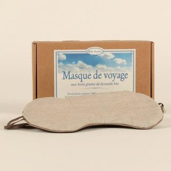 Masque de voyage aux grains de Lavande Bio - Mille Oreillers .