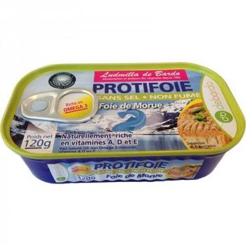 ProtiFoie de Morue sans sel - 120 g - De Bardo .