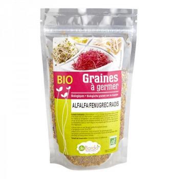 Mélange de graines :Alfalfa , Fenugrec , Radis BIO - 200 G - De Bardo