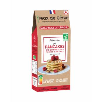 Préparation Bio Pancakes ou Gaufres à indice glycémique Bas - 300 G