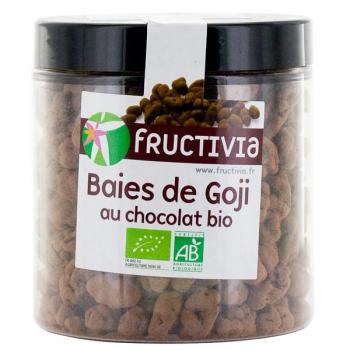 Baies de Goji Bio séchées au chocolat - 150 g- Fructivia