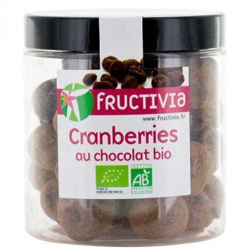 Cranberries séchées Bio au chocolat - 100 g - Fructivia