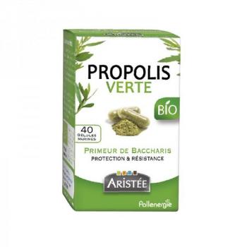 Propolis verte de Baccharis Bio - 40 gélules marines - Pollenergie
