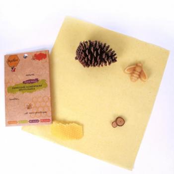 Beewrap en coton GOTS à la cire d'abeille - taille L - Apifilm