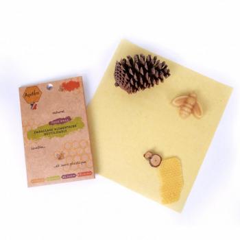 Beewrap en coton GOTS à la cire d'abeille - Taille M - Apifilm