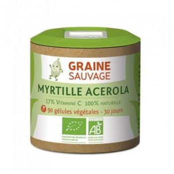 Myrtille et Acerola Bio - 90 gélules - Graine Sauvage