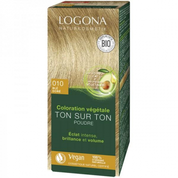 Soin colorant Bio 100 % Végétal - Blé Doré - 100 gr - Logona