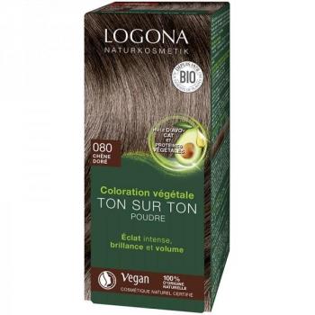 Soin colorant Bio 100 % Végétal - Chêne Doré - 100 gr - Logona