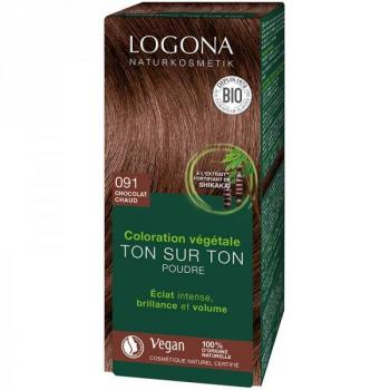 Soin colorant Bio 100 % végétal  - Chocolat chaud - 100 gr - Logona